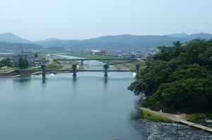 三隈川と亀山公園