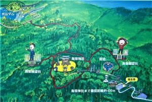 烏宿山散策道案内図